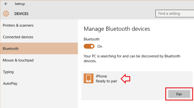 connect to bluetooth device