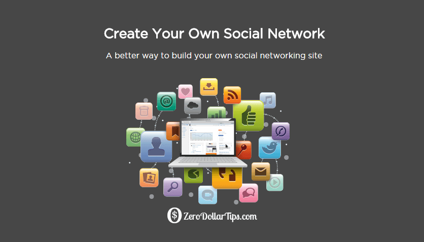 create your own social network like facebook