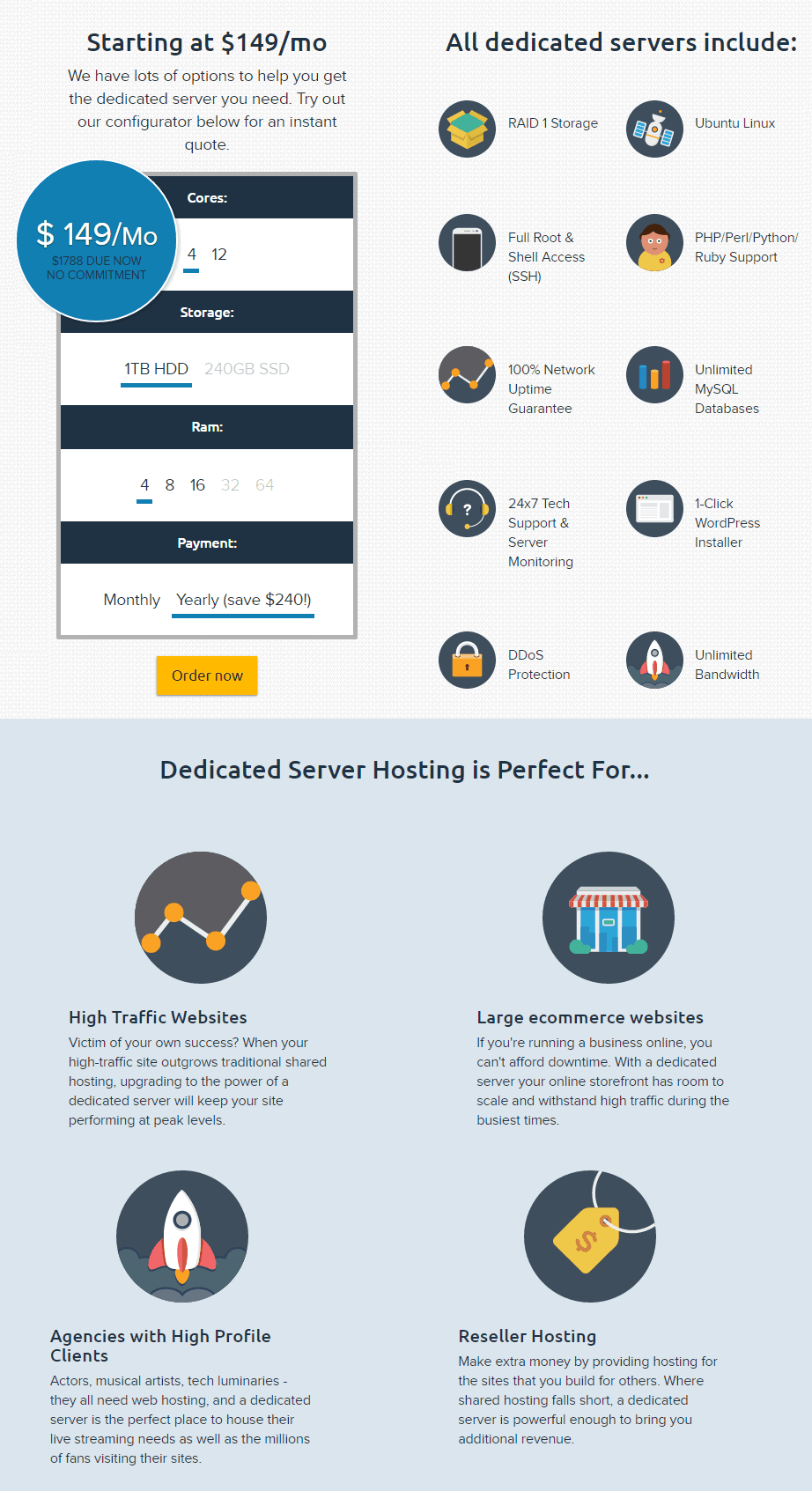 dreamhost dedicated hosting plans