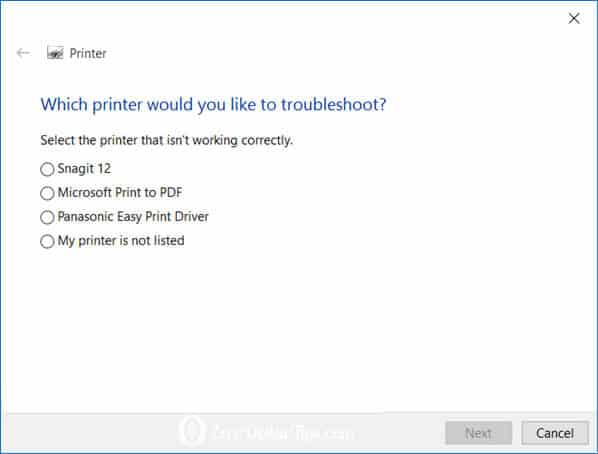 fix printer problems