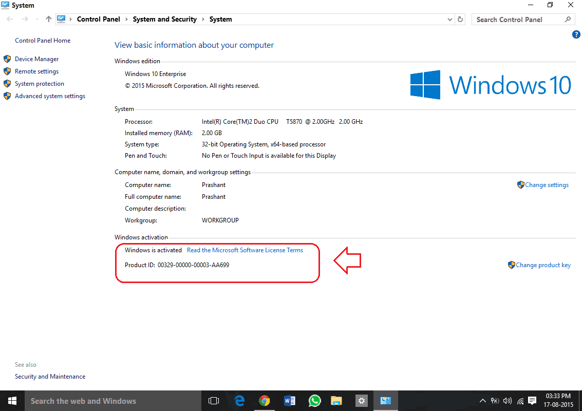 How to check if windows 10 is genuine or not for Cpm windows 10