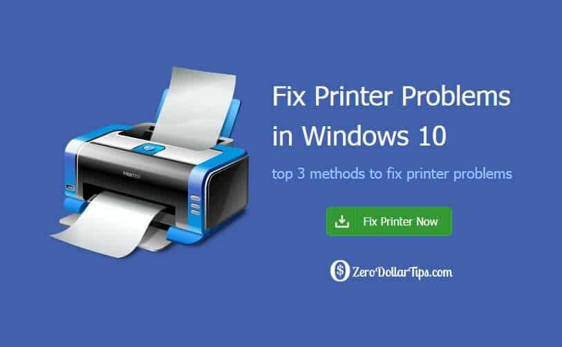 how to fix windows 10 printer problems