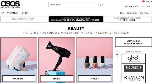 Top 10 online shopping sites to buy beauty products online for Best online websites for shopping