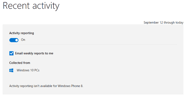 windows 10 recent activity
