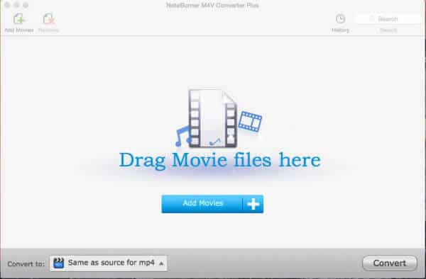 add movies noteburner m4v converter plus for mac