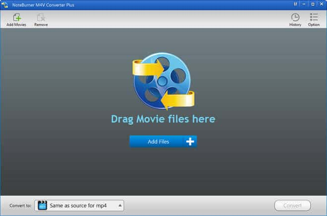add movies noteburner m4v converter plus for windows