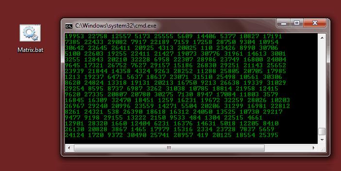 create matrix raining code screen