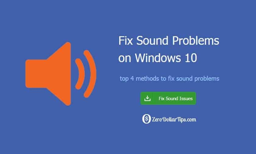 windows 10 sound problems