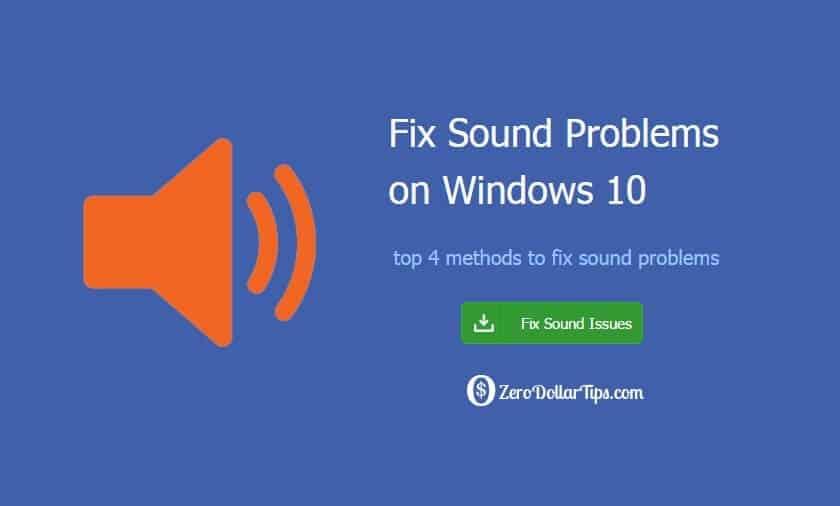 windows 10 sound problems