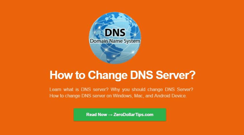 change dns server