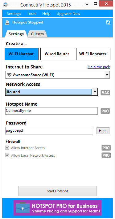 Connectify hotspot pro key - ba35