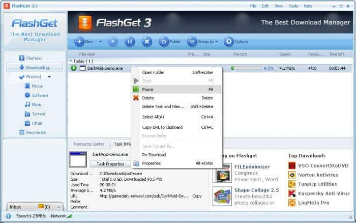 flashget downloader