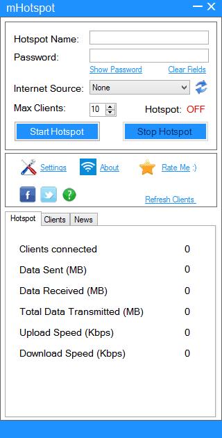 mHotspot WiFi sharing software