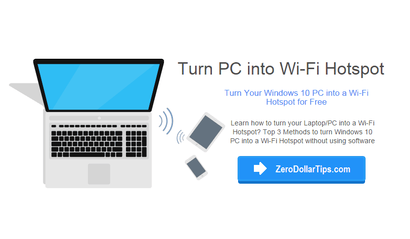 Turn Windows 10 PC into a WiFi Hotspot without Using Software