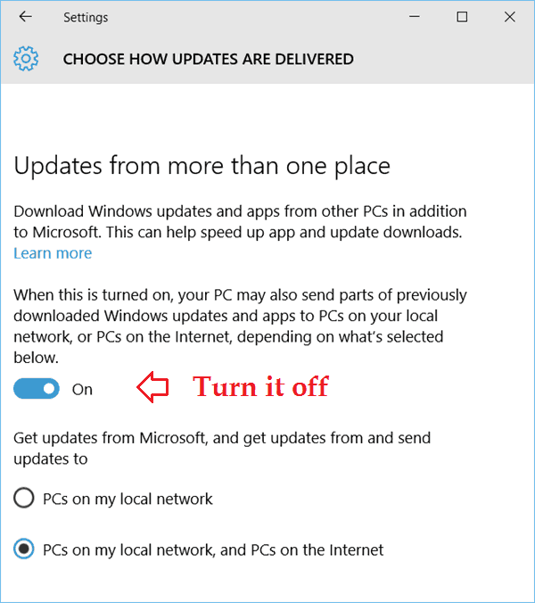 Windows Update Delivery Optimization