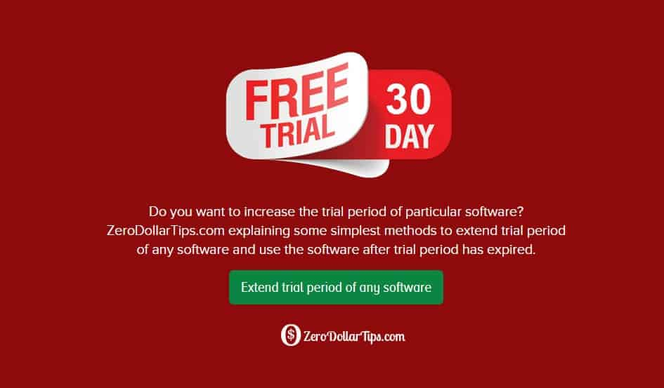 how to extend trial period of any software