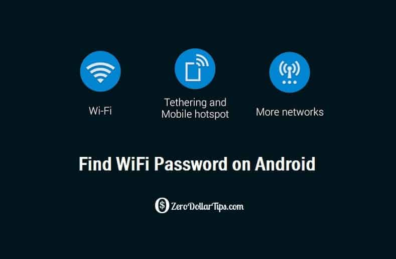 find wifi password android