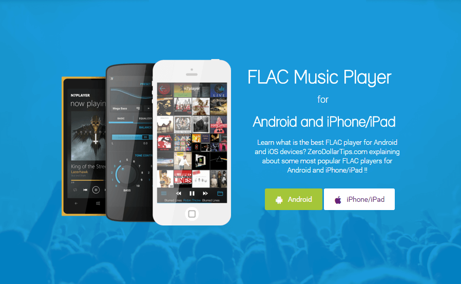 best flac player android, iPhone, iPad