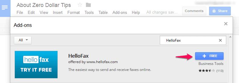 add hellofax