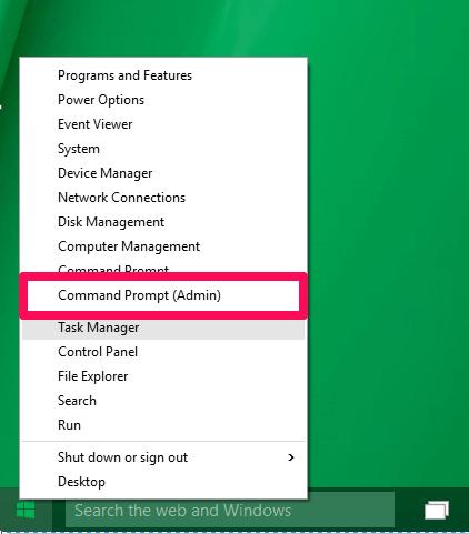 command prompt admin windows 10