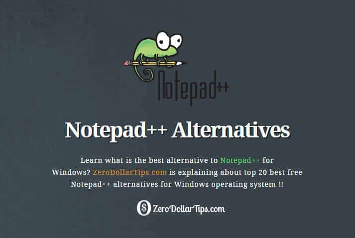 notepad++ alternatives