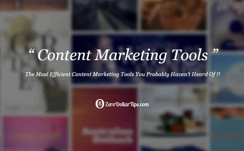online content marketing tools
