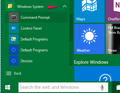 windows 10 command prompt with admin rights