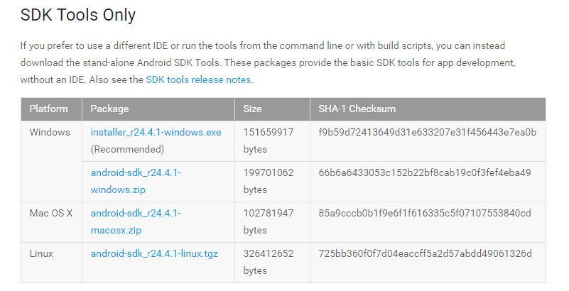 android sdk tools