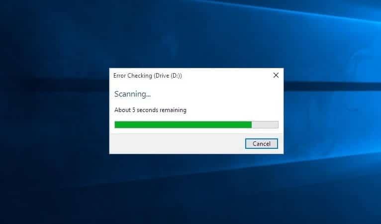 chkdsk windows 10