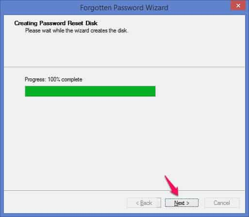 creating password reset disk windows 8