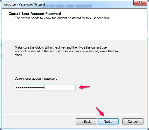 current user account password windows 7