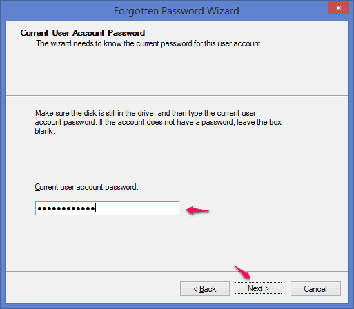 current-user-account password windows 8