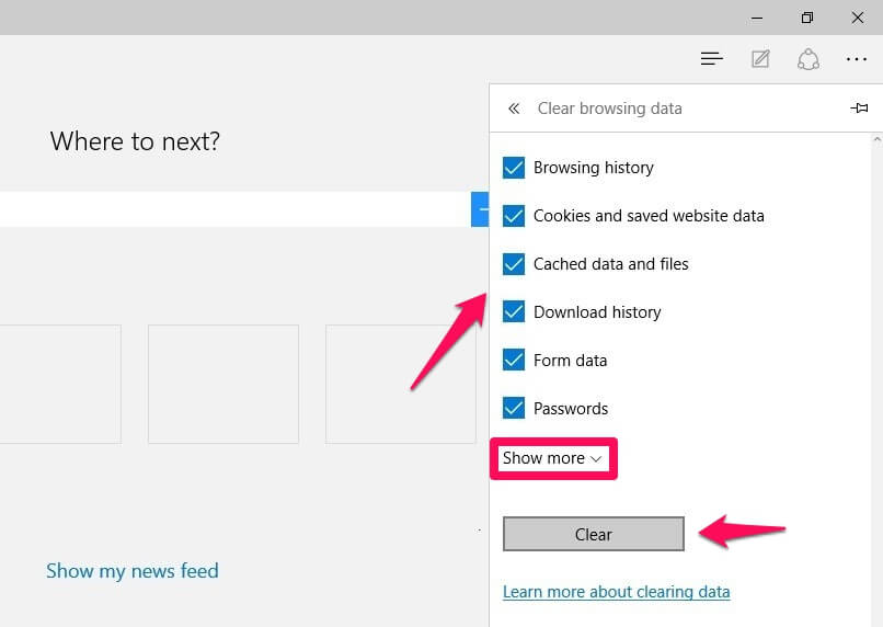 how to reset microsoft edge in windows 10