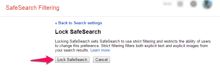 how to close google safe search