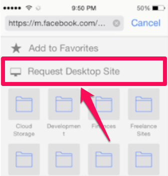 request desktop site ios9