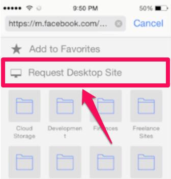 request desktop site ios9