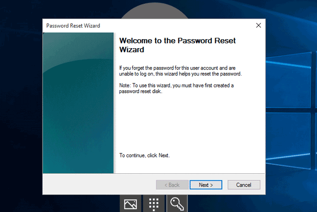 reset windows 10 password using password reset disk