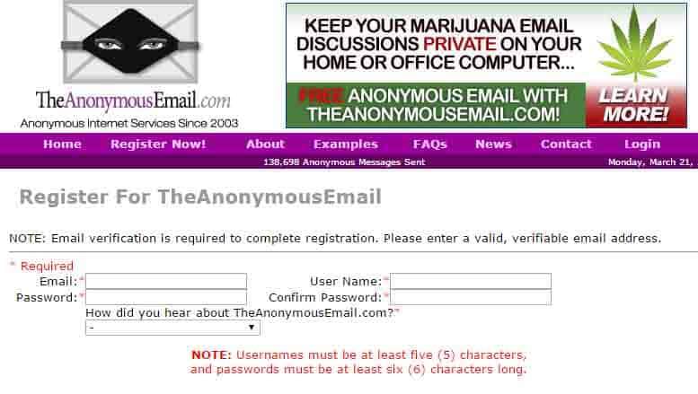 the anonymous mail