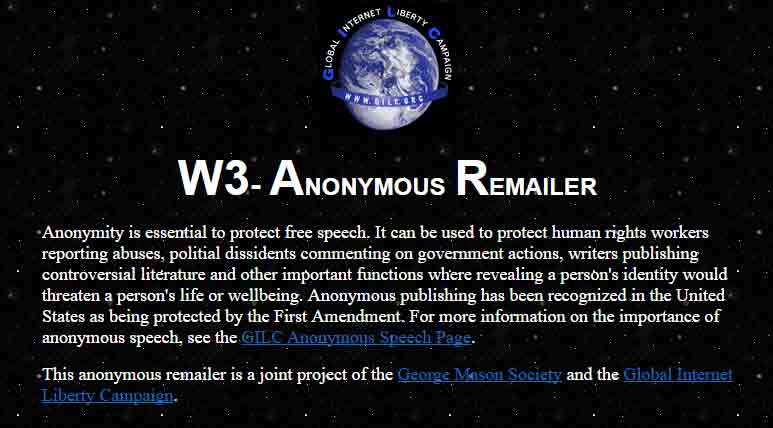 w3 anonymous remailer
