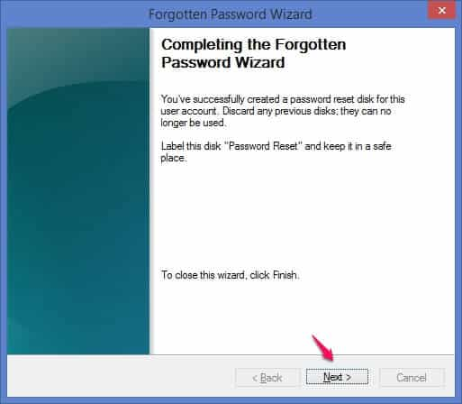windows 8 password reset disk