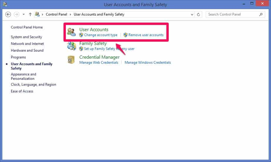 windows 8 user accounts