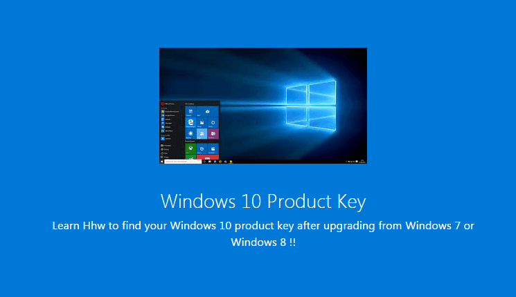 How to Find Your Windows 10 Product Key after Upgrade