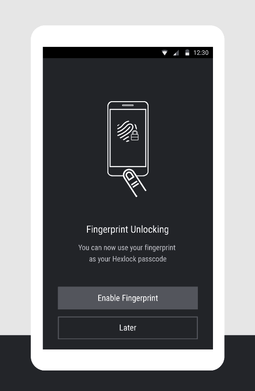 fingerprint unlocking