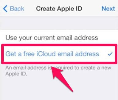 how to set up icloud with a different email