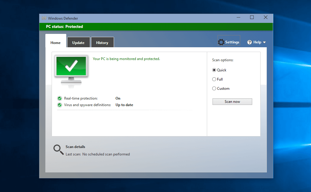 how to turn on windows defender
