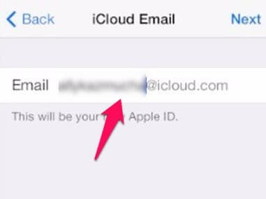 set up an @icloud.com email address
