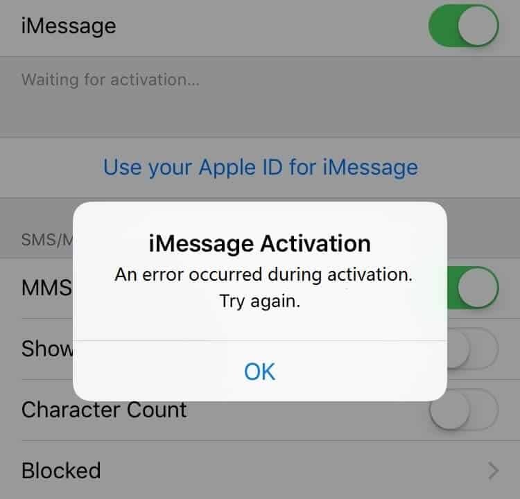 iphone imessage waiting for activation how to fix imessage quot waiting for activation quot error on iphone 17659