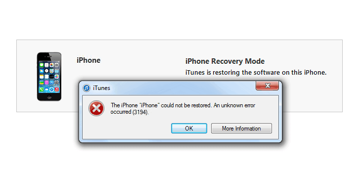iphone could not be restored error 3194 fix itunes error 3194 while restoring or updating ios 5660