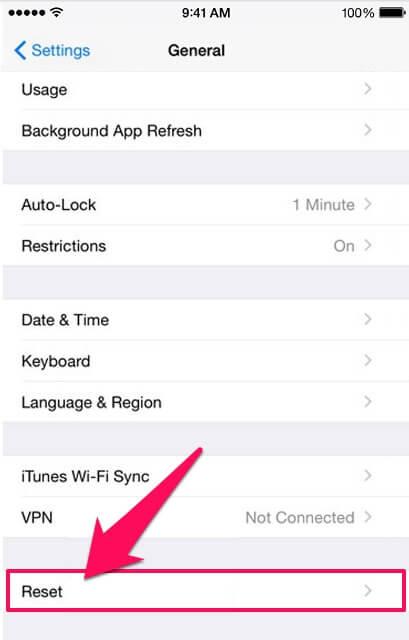 resetting iphone
