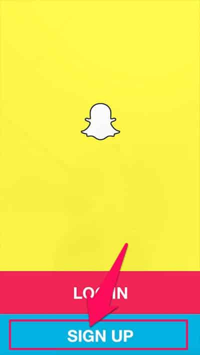 sign up snapchat account